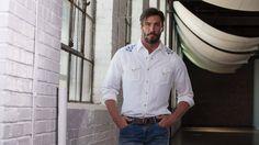 Men's Ryan Michael Silk Linen Western Shirt #B1026SF