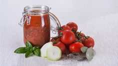 Sauce tomates-basilic en conserve