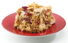 Chex* Apple-Almond Bars Recipe (Gluten Free): Mix up whole-grain cereal and dried fruits to create a tasty, better-for-you bar.