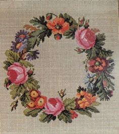 Berlin Woolwork Wreath Pattern C.Reidel