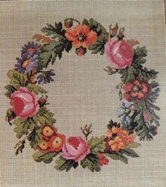 Berlin Woolwork Wreath Pattern C.Reidel