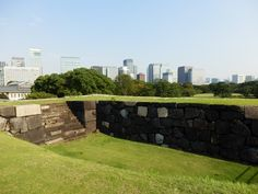 I saw Tokyo from Tenshudai of The Imperial Palace(Japanese, 皇居) in Tokyo, Japan in September 2013.