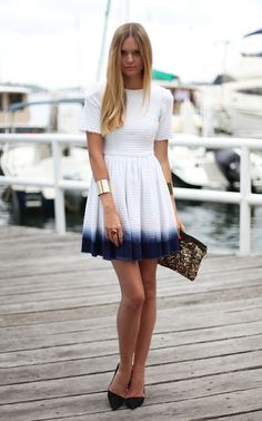 Could sew a simple white cotton skirt and dipdye it