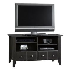 cool Sauder Shoal Creek Panel TV Stand, Jamocha Wood - For Sale Check more at http://shipperscentral.com/wp/product/sauder-shoal-creek-panel-tv-stand-jamocha-wood-for-sale/