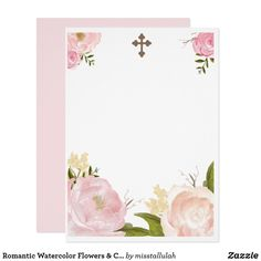 Customizable Invitation made by Zazzle Invitations. Christening Invitations Girl, First Communion Invitations, Invitation Background, Floral Invitation, Prince Birthday Party, Baptism Party, Birthday Invitation Templates, First Holy Communion, Create Your Own Invitations