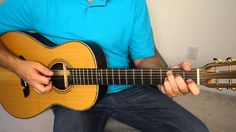 Easy acoustic blues rhythm - guitar lesson.