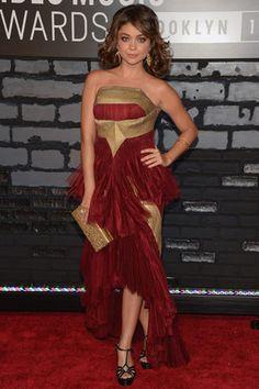 La red carpet de los VMAs 2013: Sarah Hyland