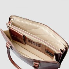 The Fiorella : Luxury Italian Leather Briefcase Bag for Macbook / Laptop