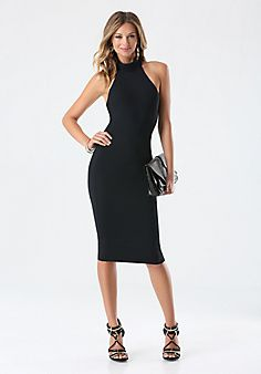 BEBE - Mock Neck Midi Dress