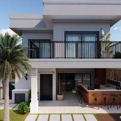Minimal House Design, Duplex House Design, House Front Design, Small House Design, Narrow House Designs, Modern Exterior House Designs, Best Modern House Design, Cottage Style House Plans, My House Plans