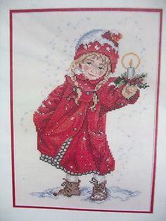 Eva Rosenstand Clara Waever Kit Little Girl Candle Christmas Cross Stitch