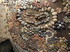 same rock mosaic dry