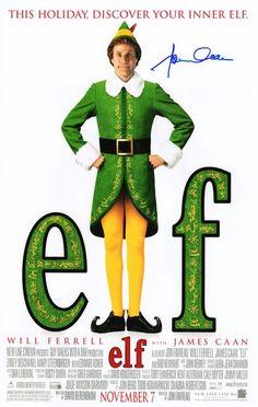 James Caan Signed 'Elf' 11x17 Movie Poster