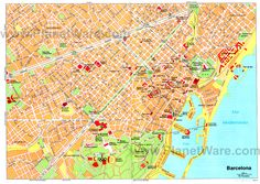 Barcelona Sightseeing Map Barcelona Tourist Map See map details