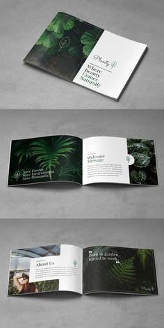 Landscape Decorative Plants Brochure pages) – Brochure Templates – layout Corporate Identity Design, Company Brochure Design, Graphic Design Brochure, Brochure Layout, Brochure Template, Branding Design, Unternehmensbroschüre Design, Layout Design, Design Portfolio Layout