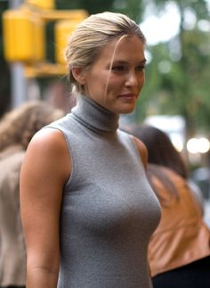 sleeveless turtlenecks can be dressed up or down