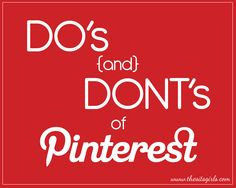 What should you do on Pinterest? What should you not do? These do's and don'ts will help you become a Pinterest rockstar, and drive traffic to your website. # 3 is especially important.