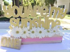 You are my Sunshine girl birthday party decorations! See more party planning ideas at CatchMyParty.com!