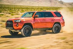The 2016 Toyota TRD Pro may not be a pretty face, but it is a serious off-roading vehicle. Only 3400 examples of the TRD Pro will be produced with a . Toyota Trd Pro, 2015 Toyota 4runner, Toyota 4runner Trd, Toyota Cars, 4runner Off Road, Toyota Vehicles, Tacoma Toyota, Best Off Road Vehicles, Best Suv