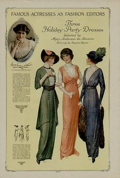 1914 fashion plate by pennyspitter, via Flickr