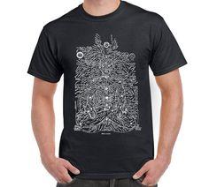 Prana Energy Lines-Yoga T Shirt Keep Calm by FreakyTshirtShop