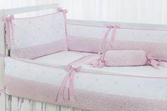 Kit Berço Floral Rosa, Salmom ou Branco Floral Rosa, Baby Kit, Bassinet, Cupcake, Toddler Bed, Alice, Decorations, Furniture, Home Decor