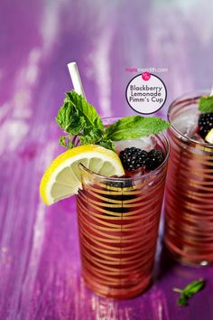 Blackberry Lemonade Pimm's Cup