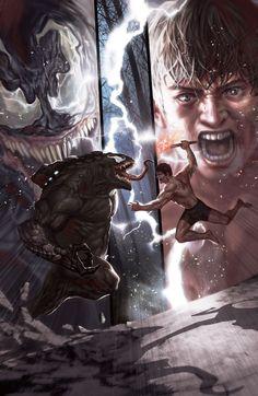 #Venom #Fan #Art. (Venom vs Peter Parker) By: In-Hyuk Lee. (THE * 5 * STÅR * ÅWARD * OF: * AW YEAH, IT'S MAJOR ÅWESOMENESS!!!™)[THANK Ü 4 PINNING!!!<·><]<©>ÅÅÅ+(OB4E)