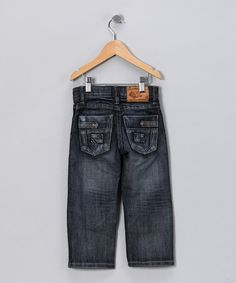Take a look at this Dark Wash Hand-Brushed Spray Jeans - Toddler & Boys by JB Original Vintage on #zulily today!