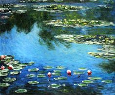 Claude Monet - Water Lilies. One of overstockArt's most popular paintings for 2014. Hand painted reproductions are available in a variety of sizes at overstockArt.com. #art