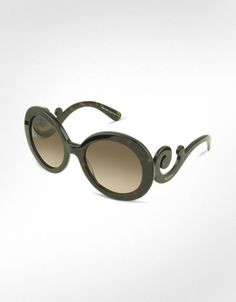 Prada Swirled Temple Large Frame Sunglasses - My Style.  But I can't afford them.