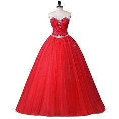 Beautyprom Women's Sweetheart Ball Gown Tulle Quinceanera Dresses Prom... ❤ liked on Polyvore featuring dresses, gowns, prom homecoming dresses, tulle ball gown, prom ball gowns, tulle gown and quinceanera gowns