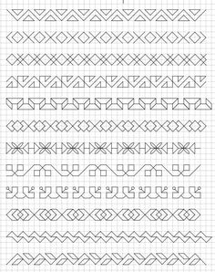 45 Super Cool Doodle Ideas Get your doodle inspiration idea here with 45 cool and easy doodle ideas for sketchbooks, bullet journals, and definitely when you're taking notes. Blackwork Cross Stitch, Blackwork Embroidery, Cross Stitch Embroidery, Embroidery Patterns, Cross Stitch Patterns, Blackwork Patterns, Doodle Patterns, Zentangle Patterns, Doodle Designs