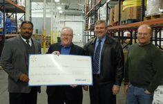 Feeding America grant to distribute fresh produce and dairy in southwest Michigan.   #Walmart #FeedingAmerica