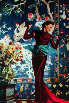 1938 Vogue UK Chinoiserie | More here: http://mylusciouslife.com/photo-galleries/a-colourful-life-colours-patterns-and-textiles/
