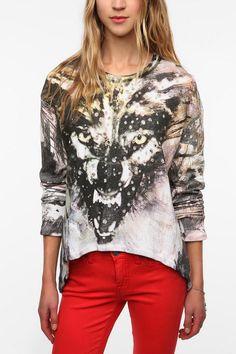 Religion Wolf Sweatshirt  #UrbanOutfitters  I want this so badlyyy