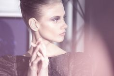 In Shades of Grey Anna Selezneva, Look At The Stars, Shades Of Grey, Backstage, Hoop Earrings, Youtube, Sally, Design, Women