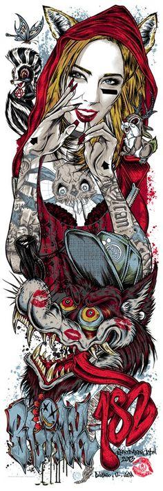 INSIDE THE ROCK POSTER FRAME BLOG: Rhys Cooper Pearl Jam, Blink 182 & Refused Posters on sale