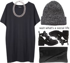 """""""Social life?"""" by luxe-ocean ❤ liked on Polyvore"""