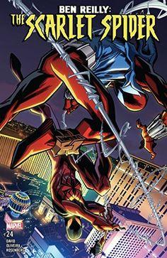 Cover Ben Reilly: Scarlet Spider 24 by E-Mann on DeviantArt Marvel Comic Universe, Marvel Comic Books, Marvel Comics, Comic Book List, Comic Book Covers, Spiderman Art, Amazing Spiderman, Scarlet Spider Ben Reilly, Spider Man's