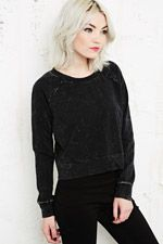 Sparkle & Fade Mineral Wash Crop Sweatshirt at Urban Outfitters