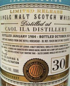 Caol Ila 1984/2014 30yo 54.7% (258 bottles)