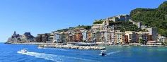 The Doria Castle dominates the village of Portovenere on the Bay of Poets, Liguria Vacation Destinations, Vacation Trips, Italy Pictures, Italy Holidays, House Colors, San Francisco Skyline, Beautiful Pictures, Castle, Explore
