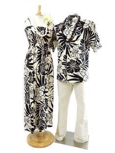 Men's Hawaiian Shirt [Hibiscus/Black]  - Men's Hawaiian Shirts - Hawaiian Shirts   AlohaOutlet SelectShop
