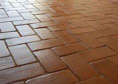6x12 super saltillo tile with 2x2 talavera decorative - Suelos rusticos exterior ...