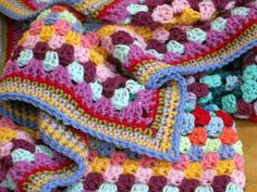 Timeless Cosy Crochet Vintage Style Granny Square Blanket Afghan Throw. £60.00, via Etsy.