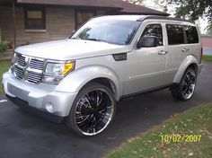 Custom Wheels on The Nitro . Rims For Sale, Dodge Nitro, Wheel And Tire Packages, Aftermarket Wheels, Dodge Journey, Dodge Chrysler, Custom Wheels, Sports Toys, All Cars