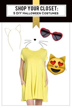 Shop Your Closet: 5 Free and Fabulous Halloween Costumes Pokemon Ash Ketchum, Suicide Squad Harley Quinn, Game of Thrones Shae and Khaleesi, Happy Love Cat Emoji Emoji Costumes Diy, Hot Halloween Costumes, Halloween Movies, Halloween 2016, Cute Halloween, Halloween Ideas, Emoji Christmas, Cat Emoji, Daddy Daughter Dance