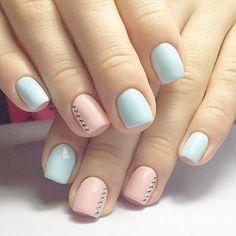 Simple, but cute. Won't you agree? #manicure #nails #nailart #naildesign #fashion #style #fashionista