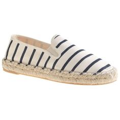 J.Crew Espadrille Slip-On Sneakers (7.955 RUB) ❤ liked on Polyvore featuring shoes, sneakers, flats, zapatos, woven flats, flat pumps, j crew shoes, j.crew and slip on flats